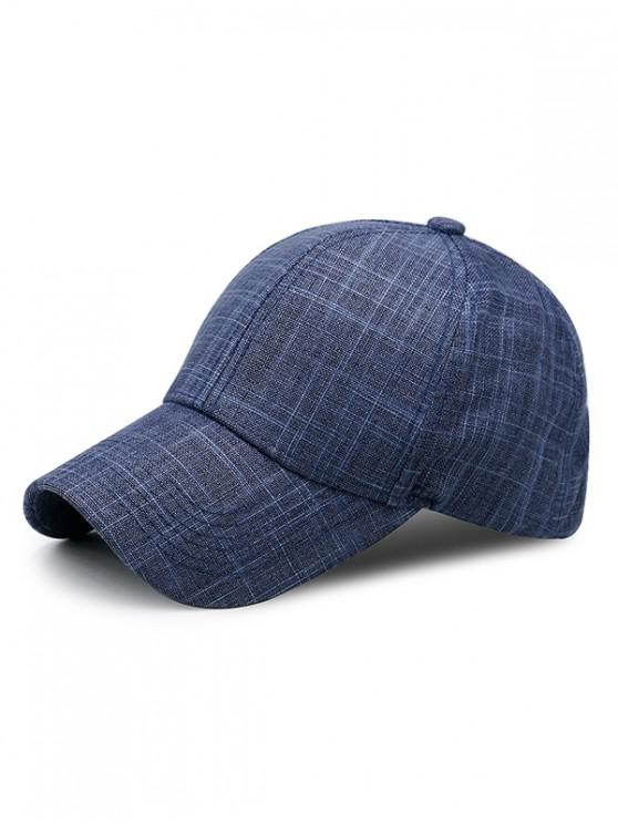 outfits Breathable Cotton Simple Baseball Hat - DEEP BLUE