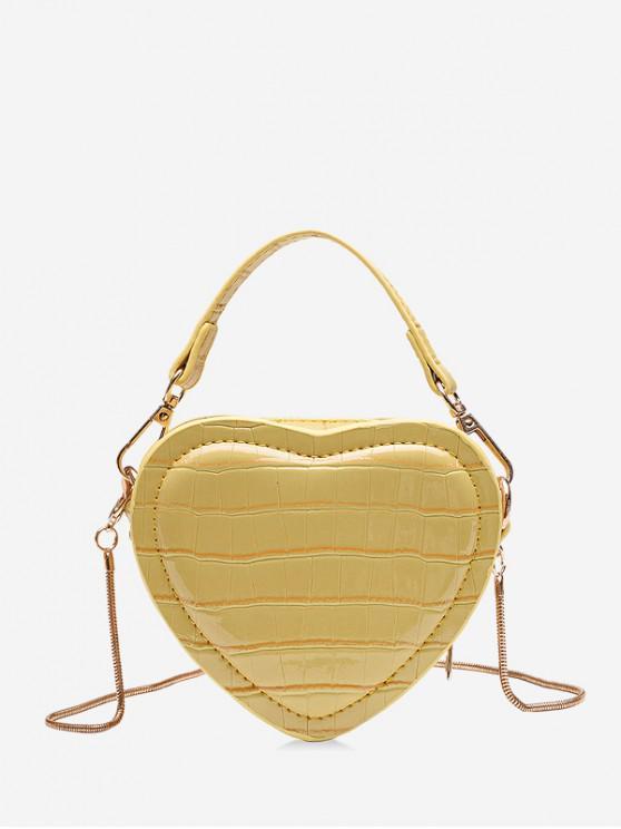 latest Heart Shape Mini Shoulder Bag - CORN YELLOW