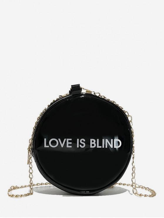 Bolso bandolera con forma redonda de personaje - Negro