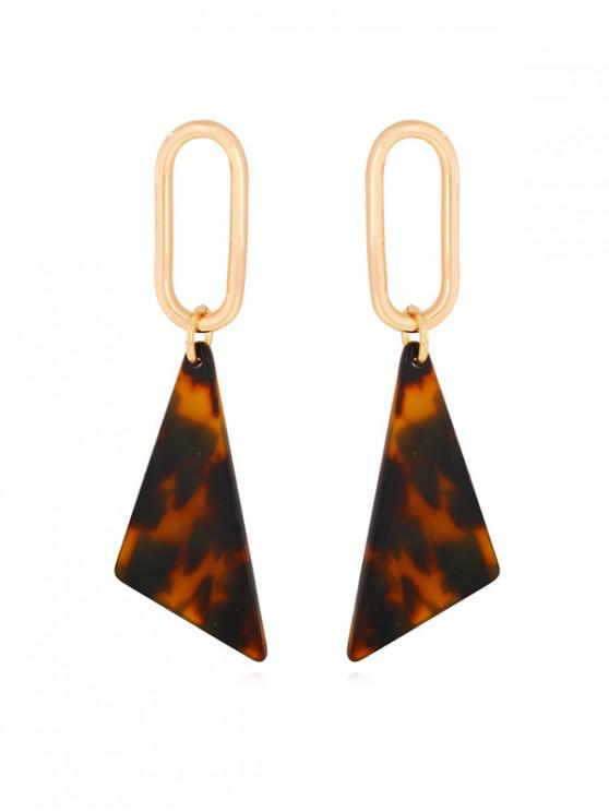 sale Leopard Triangle Geometric Drop Earrings - LEOPARD