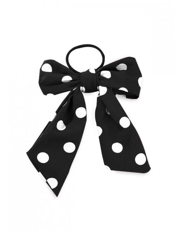 outfit Polka Dot Print Bowknot Design Hairband - BLACK
