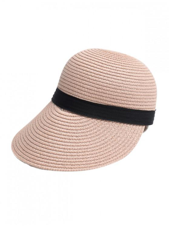 ladies Straw Sun Hat - PINK