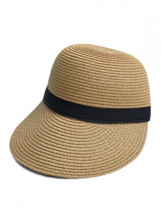 Sombrero de paja para el sol - Camel Marrón
