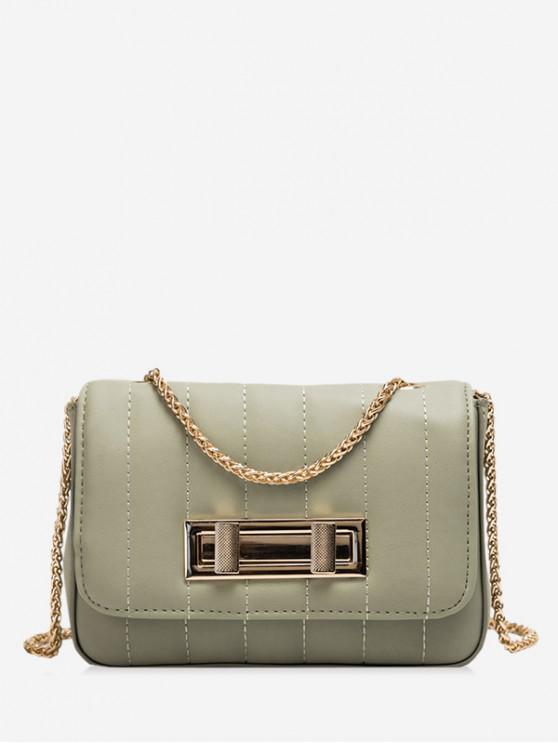 fancy Square Chic Leather Chain Shoulder Bag - CAMOUFLAGE GREEN