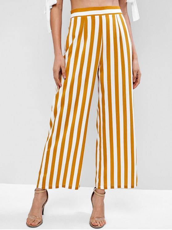 latest ZAFUL Striped High Waisted Wide Leg Pants - MULTI S