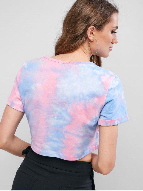 ZAFUL T-shirt Court Drapeau Américain Teinté - Multi S Mobile