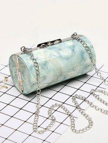 Bolso cilíndrico con estampado de mármol
