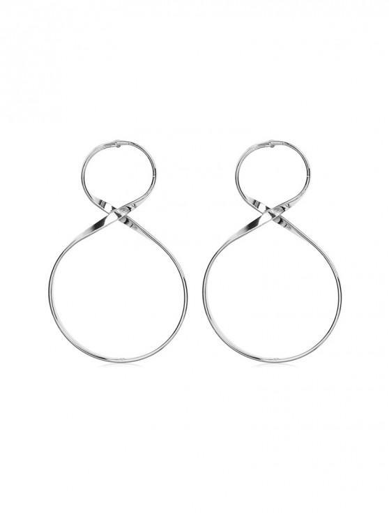 buy Unique Figure 8 Drop Earrings - SILVER