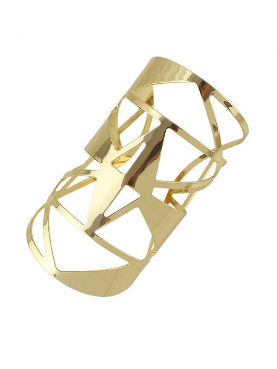 Brazalete geométrico ancho hueco - Oro