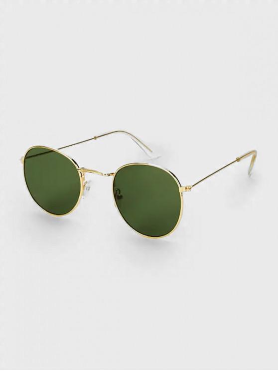 Gafas de sol ovaladas PC Metal Rim Driver - Verde Oscuro