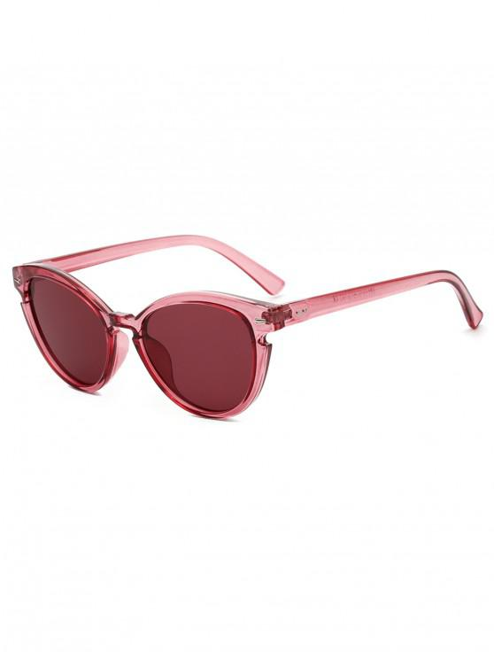 women's Vintage Catty Eye Round Sunglasses - RED