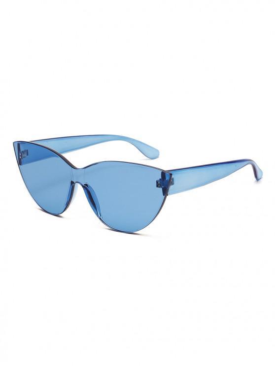 Gafas de sol sin montura de PC Rimless Catty Eye - Azul