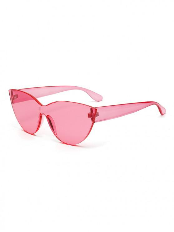 outfit PC Rimless Catty Eye Solid Sunglasses - PINK