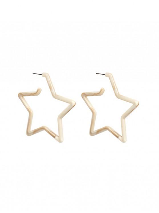 Pendientes de acrílico estrella gota - Camel Marrón