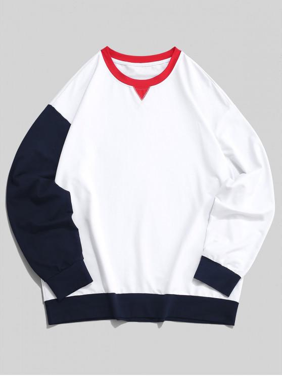 Felpa a tunica in contrasto a manica lunga color block ZAFUL - Bianca L