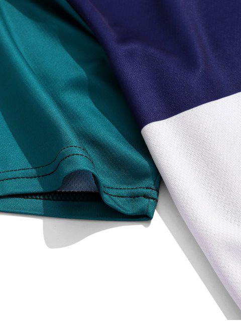 Camiseta de manga corta con paneles de colores bloqueados - Fantástico L Mobile