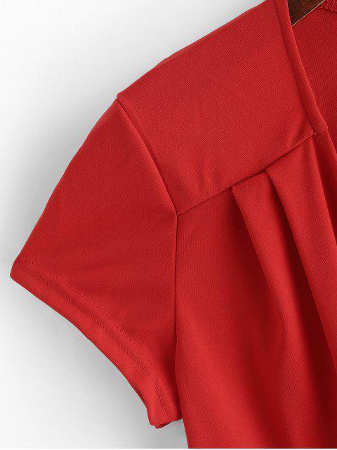 Combinaison Superposée Nouée en Couleur Unie - Rouge M Mobile