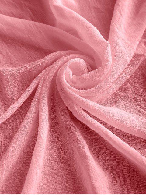 Housse de Plage Rectangulaire Semi-Transparente à Frange - Rose clair Taille Unique Mobile