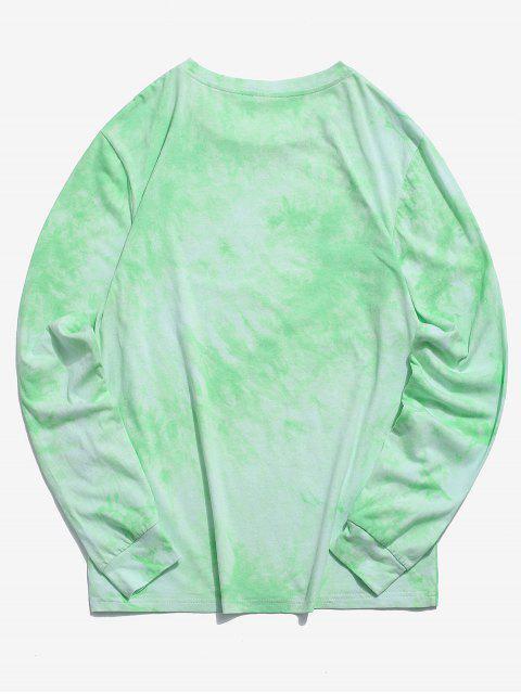 ZAFUL Sweat-shirt Décontracté Teinté à Manches Longues - Vert Menthe L Mobile