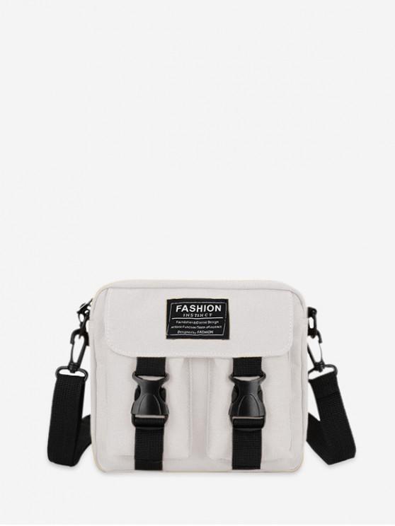 best Letter Pattern Leisure Crossbody Bag - MILK WHITE