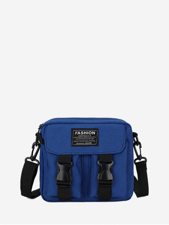 online Letter Pattern Leisure Crossbody Bag - COBALT BLUE