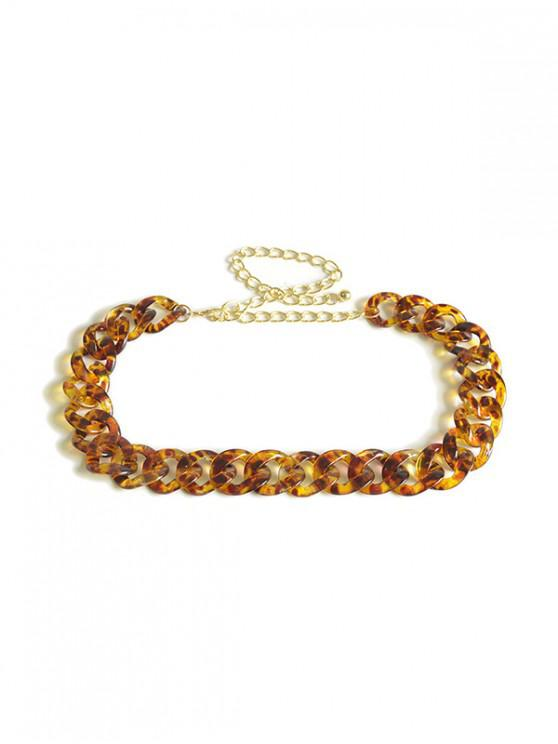 new Transparent Leopard Link Waist Chain - LEOPARD