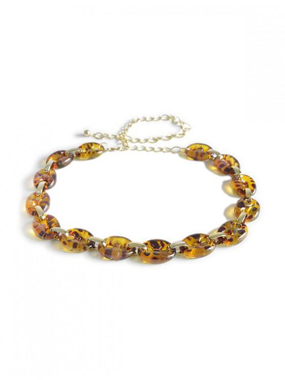 Cadena de la cintura de eslabones de leopardo transparente - Amarilla de Abeja