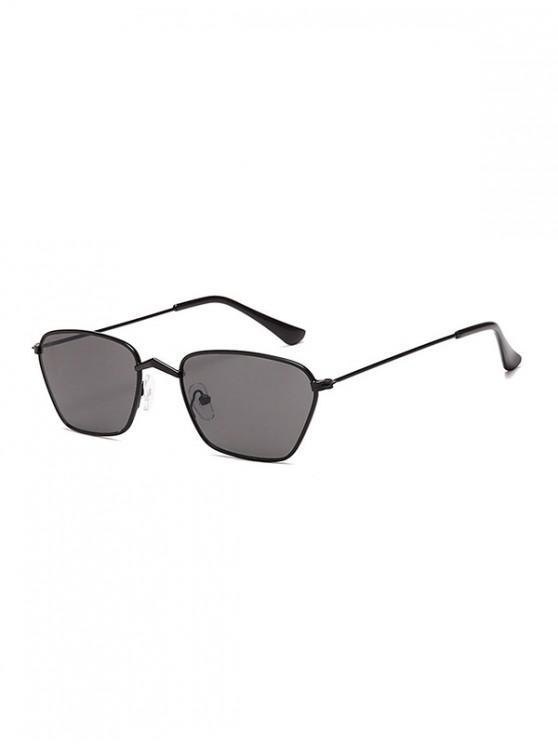 Gafas de sol vintage de metal con pequeño rectángulo - Negro