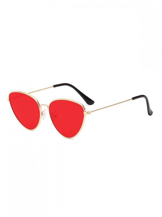 fancy Unisex Light Metal Frame Sunglasses - RED