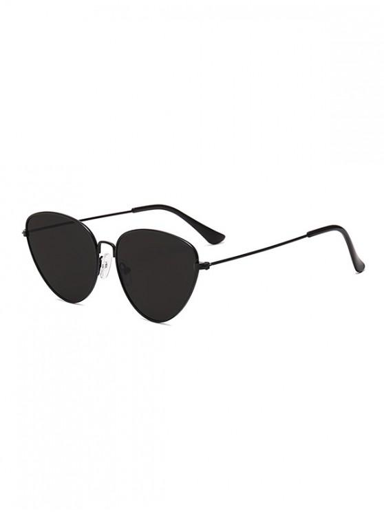 affordable Unisex Light Metal Frame Sunglasses - BLACK