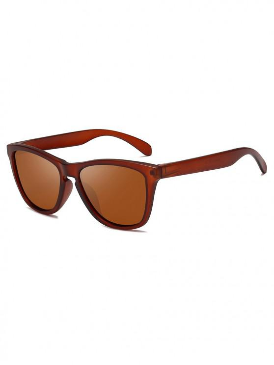 womens Driving Polarized Butterfly Sunglasses - BROWN