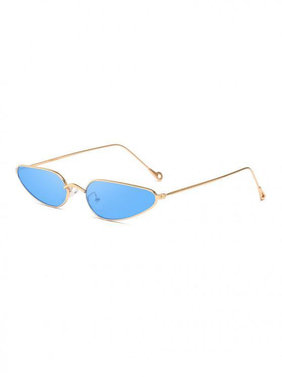outfit Retro Stylish Metal Frame Unisex Sunglasses - OCEAN BLUE
