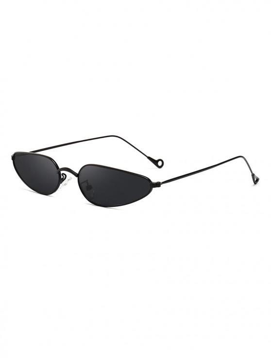 shop Retro Stylish Metal Frame Unisex Sunglasses - BLACK