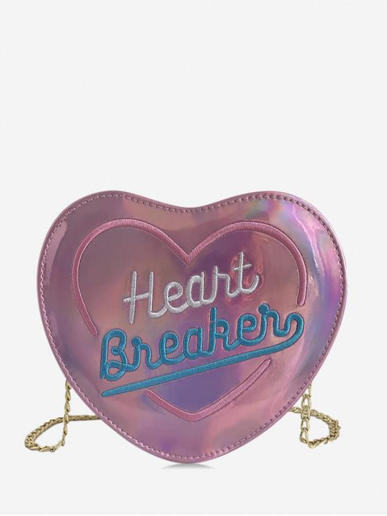 hot Chic Heart Shape Design Crossbody Bag - FLAMINGO PINK