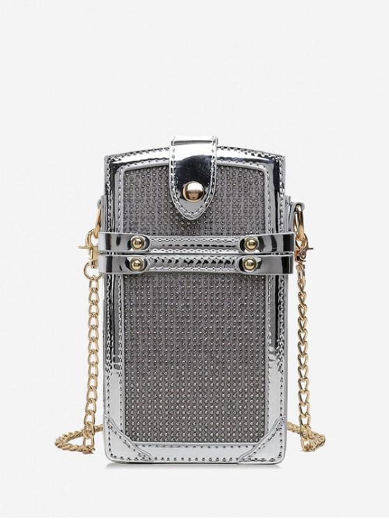 hot Glistening Phone Chain Bag - SILVER