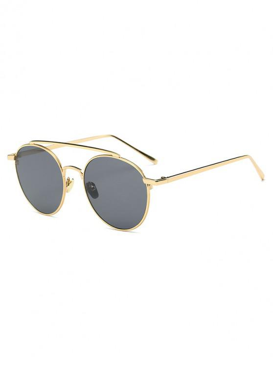 chic Round Design Alloy Frame Sunglasses - GRAY