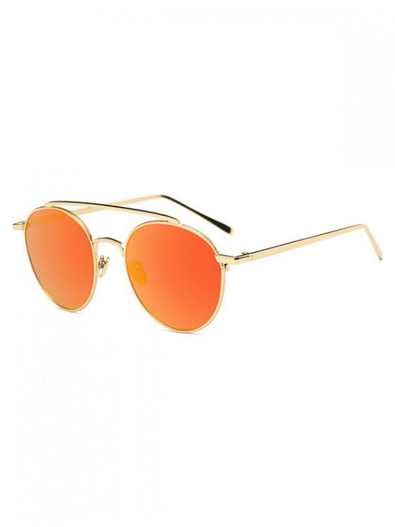 Gafas de sol redondas con diseño de aleación - Naranja