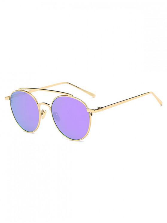 unique Round Design Alloy Frame Sunglasses - PURPLE