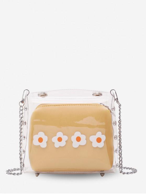 Bolso bandolera cadena flor jalea - Vara de Oro