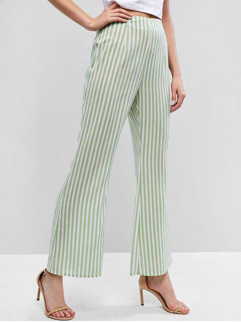ZAFUL Pantalon Bootcut Rayé à Taille Haute - Vert S Mobile