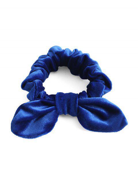 ZAFUL Bande de Cheveux avec Nœud Papillon en Velours - Bleu Cobalt Taille Unique Mobile