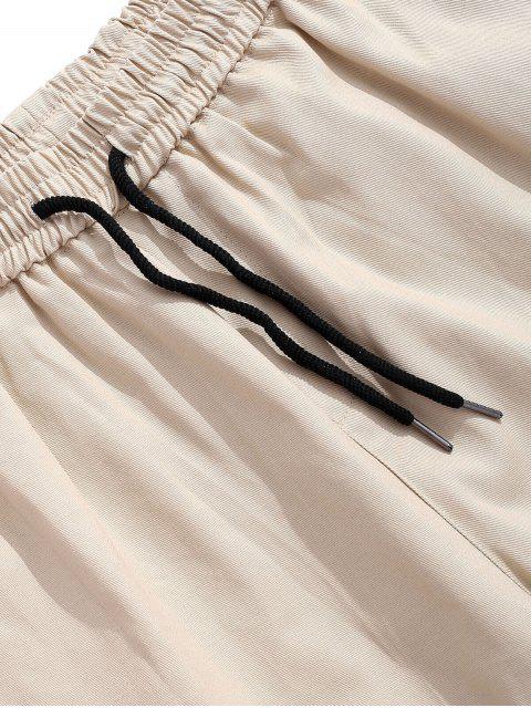 Pantalones cortos de bolsillo con solapa lateral de color liso - Gris Humo S Mobile