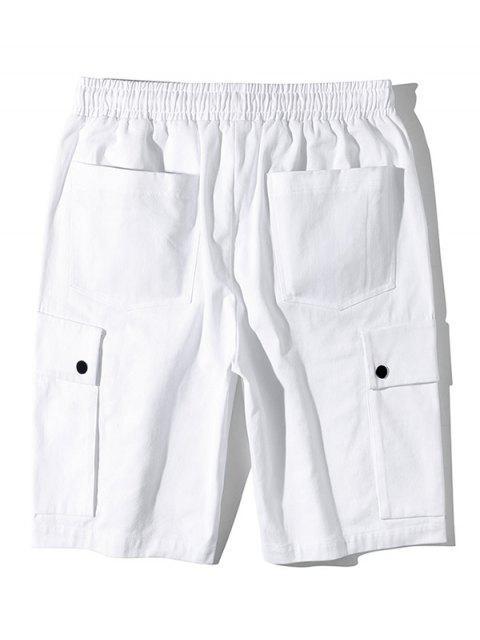 Shorts de bolsillo con solapa lateral estampado gráfico - Blanco M Mobile