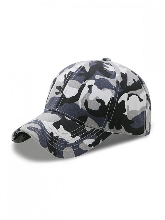 Gorra de béisbol ajustable con estampado de camuflaje - Gris