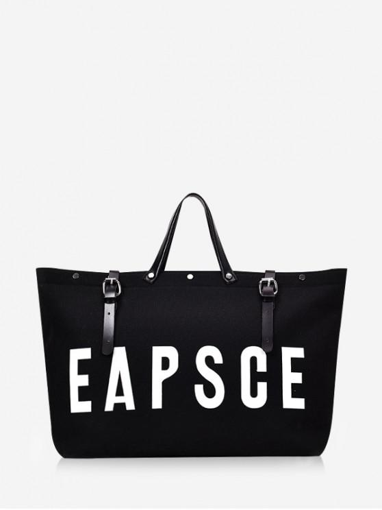 1a3320451 37% OFF] [NEW] 2019 Letter Graphic Large Capacity Canvas Tote Bag In ...