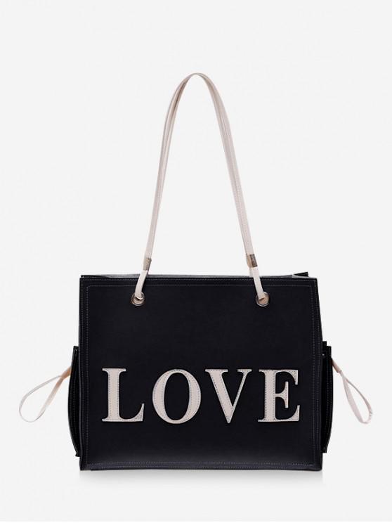 Set de 2 bolsas con letras de amor - Negro