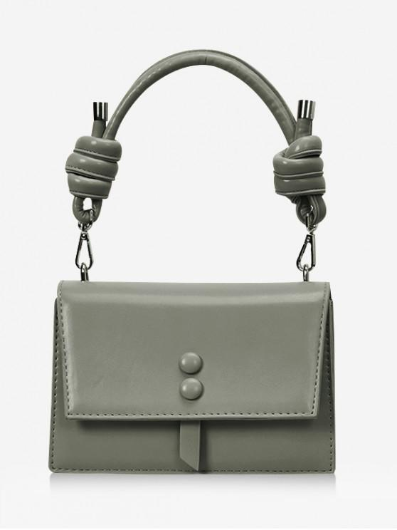 hot Cover Button Knot Rectangle Handbag - CAMOUFLAGE GREEN