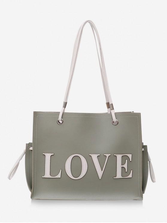 Set de 2 bolsas con letras de amor - Azul Opaco