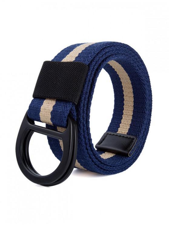 Correa De Cintura De Lona De La Trenza - Azul Marino
