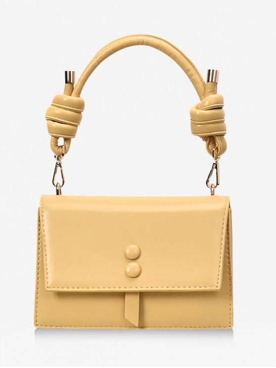 Cubrir el nudo del botón del bolso del rectángulo - Amarillo de Maíz